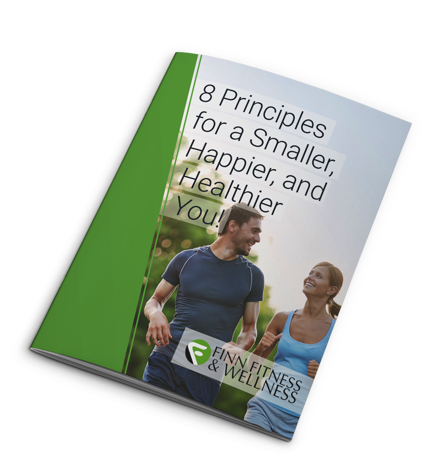 "Get our 50-page eBook ""8 Principles for a Smaller, Happier, and Healthier You!"""